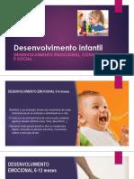 desenvolvimento infantil - emocional. cognitivo e social