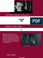 the history behind frankenstein