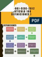 Nom-001-Sede-2012 Definiciones