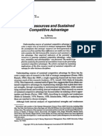 Barney, J.B. 1991 Firm Resources and Sustained Competitve Advantage