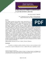 NOVAS FORMAS DE ORGANIZAÇÃO CURRICULAR DESTNADA A EJA