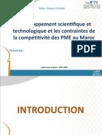 Le développement scientifique et technologique et les contraintes de la compétitivité des PME au Maroc