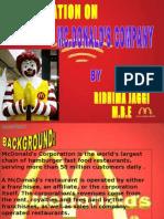 Mc Donalds PPT