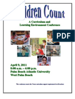 Palm Beach Family Central - Children Count Conference Brochure