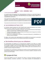 Communiqué de presses Yooz - Yooz lance sa version 1.2.5, orientée vers l'internationalisation