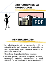 administracion producción