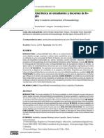 Disponibilidad léxica en estudiantes y docentes de fonoaudiología
