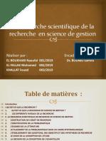 1-La Démarche Scientifique de La Recherche en Science de Gestion