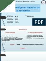 7-Problématique-et-question-de-la-recherche PPT FINAAL