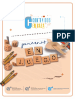 Ponernos en Juego Contenidos en Casa Educacion Inicial