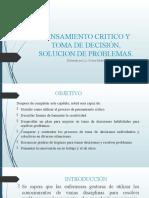 PENSAMIENTO CRITICO Y TOMA DE DECISIÓN, SOLUCION KM 2019