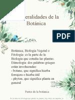 GENERALIDADES DE LA BOTANICA