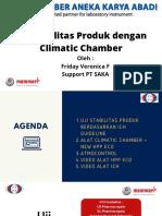 Webinar SAKA_Uji Stabilitas Produk dengan Climatic Chamber