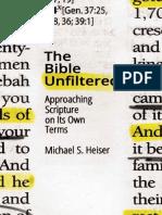 La Biblia sin filtro cómo acercarse a la Escritura en sus propios términos