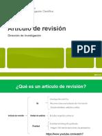 taller 1  el articulo de revisión