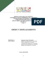 Manuel de Sousa - Trabajo Orden y Desplazamiento