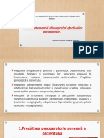 Tratamentul chirurgical al afecțiunilor parodontale.