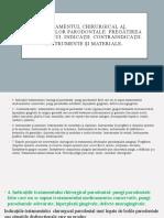 Tratamentul chirurgical al afecțiunilor parodontale. Pregătirea pacientului. Indicații. Contraindicații. Instrumente și materiale.