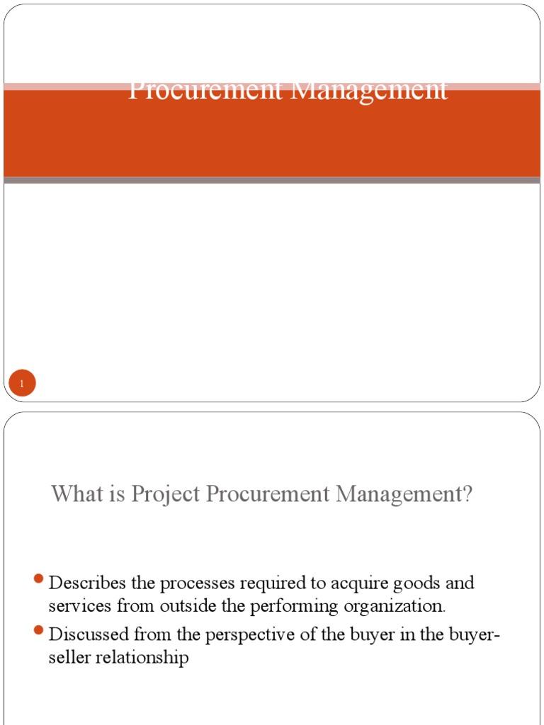 procurement managementppt procurement mergers and