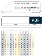 Cart_o de Leitura de N_meros - Classe das Unidades + Classe dos Milhares + Classe do Milh_es + Parte Decimal
