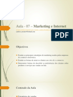Aula - 07 – Marketing e Internet