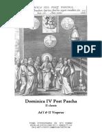 Dominica IV Post Pascha. Ad I & II Vesperas