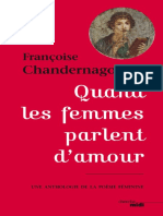Quand Les Femmes Parlent D Amour by Chandernagor Françoise