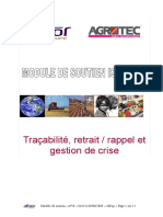 Module Soutien Iso22000 10 Tracabilite Et Gestion de Crise