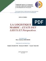[MFE] Logistique au Maroc, états des lieux et perspectives