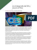 Avances en El Desarrollo Del 5G y Su Presencia en El Perú