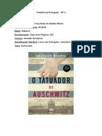 Trabalho de Português - livro