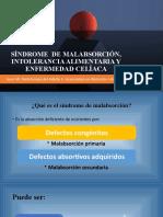 SINDROME  DE MALABSORCIÓN, INTOLERANCIA ALIMENTARIA Y ENFERMEDAD CELÍACA