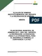 Plan Decenal Municipal 2012 - 2022