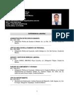 Curriculum Javier Hugo López Rivas 1