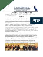 G91 LITERATURA DE LA INDEPENDENCIA (Recuperado automáticamente)