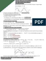 Circuit Rlc Serie en Regime Sinusoidal Force Cours 2 1