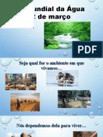 1 Apresentação Powerpoint Dia Mundial Da Água