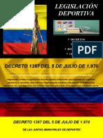 DECRETOS LEGISLACIÓN DEPORTIVA 1387 de 1970