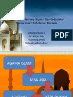 Ajaran Islam Tentang Urgensi Dan Kedudukan Agama dalam