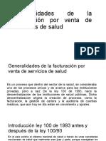 Generalidades de la facturación por venta de servicios power point