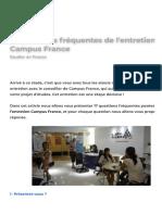 17 questions fréquentes de l'entretien Campus France - Campus France