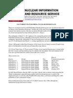 NIRS Fact Sheet on Fukushima Nuclear Power Plant