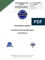 PG-PP-RRHH-001 Reclutamiento, Seleccion y Contratacion de Personal Rev 0 201120
