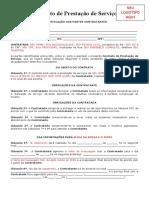 Contrato de Prestação de Serviço para Maquiador - MODELO POR BIA ANJOS
