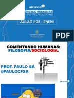30 01 2021 Filosofia e Sociologia Comentando Enem 2020 Pc Sá