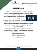 Arcadia - Comunicado 014-2021