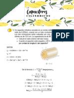 Capacitores cilindricos tarea