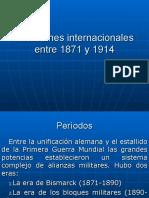 Relaciones internacionales entre 1871 y 1914