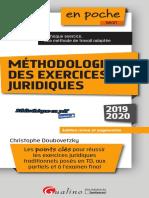 (en Poche) Christophe Doubovetzky - Méthodologie Des Exercices Juridiques-Gualino (2019)