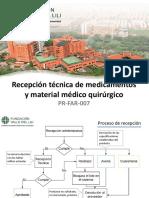 Recepción Técnica de Medicamentos Plataforma...